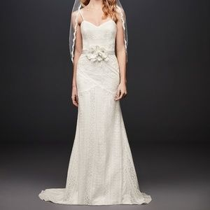 Davids bridal Galina sleeveles boho Wedding dress